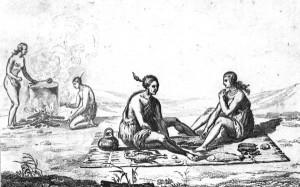 Timucuan women preparing a meal