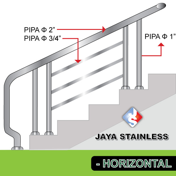 Railing stainless - Model Horizontal