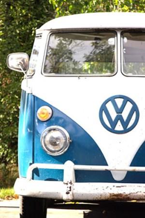 Blue VW Bus