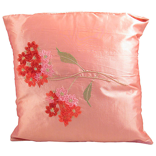 sofa package deals uk modern corner bed wholesale embroidered flower cushion cover - pink