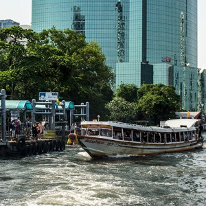 Chao Phraya River, Yellow Ferry, Bangkok