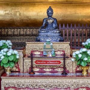 Small Buddhist statue. Wat Pho Temple, Bangkok