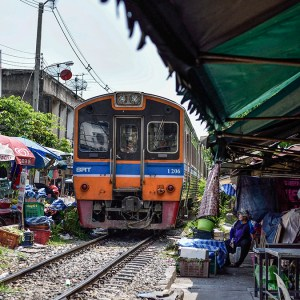 Wongwian Yai train station, Bangkok