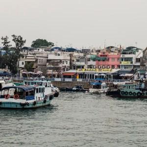 Cheung Chau marina and promenade