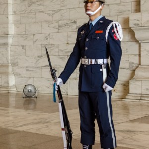 Guard at Chiang Kai-shek statue