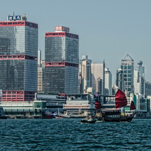 China Merchants Tower and the Wester Tower are part of the Shun Tak Center