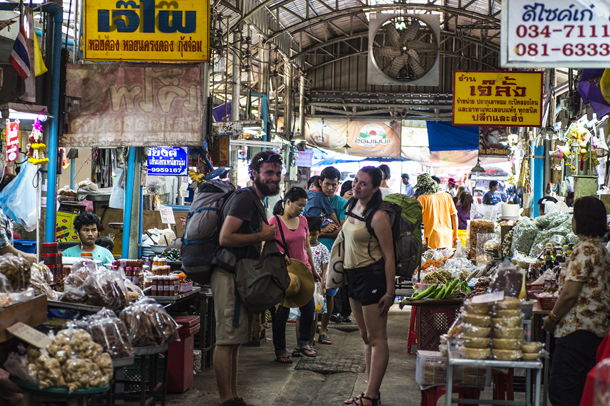 I bid a fond farewell to Pierre and Bila at the Mae Klong Market.