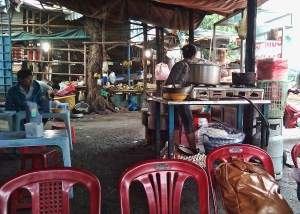 A typical street café in the Thu Duc district of Saigon, Vietnam.