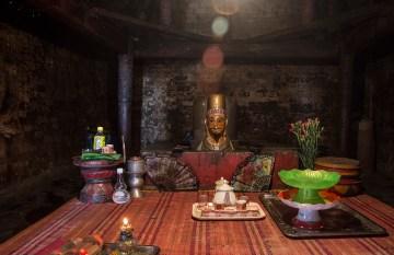 Inside the main Po Klong Garai Cham Temple