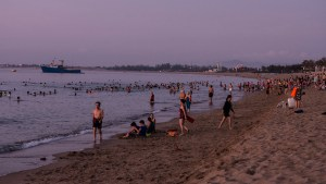 Swimming at Phan Rang Bay