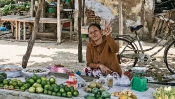 Fresh fruits and veggies from the neighborhood market in Phan Rang