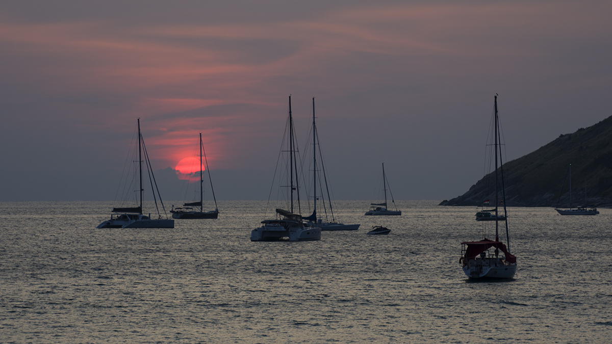 Another great sunset at Nai Harn Beach.