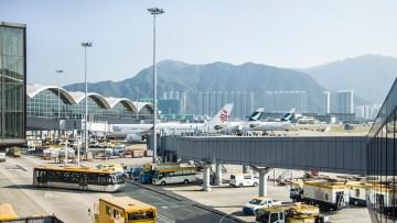 Hong Kong international airport.
