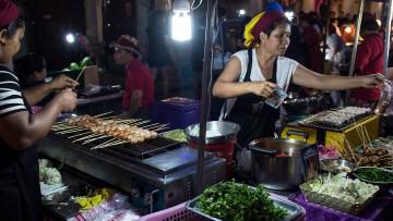 Phuket night market, in old town Phuket.
