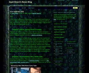 jayeldraco.com worpress blog screenshot 2009