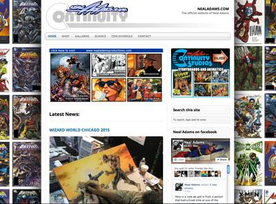 nealadams.com – website design by Jayel Draco