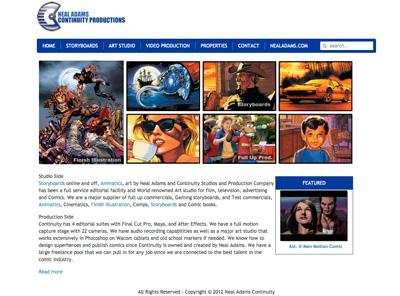 nealadamsproductions.com – website design by Jayel Draco