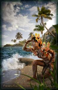 AeroAddaKesh Waiting for Canoes - by Jayel Draco | Elven Fae Islander Tribe