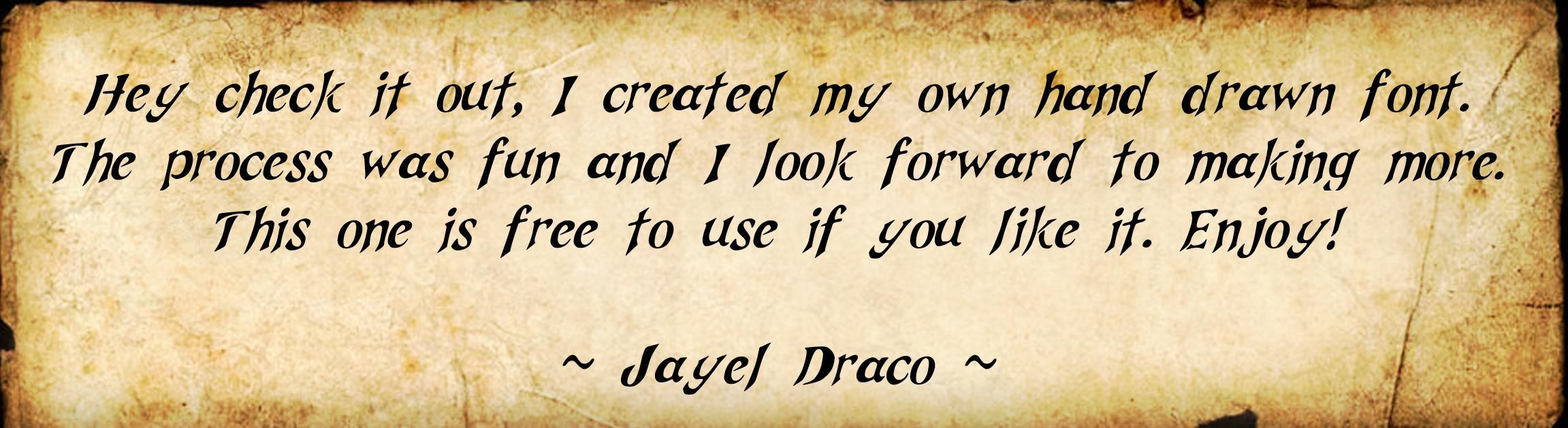 Jayel Draco font sample text