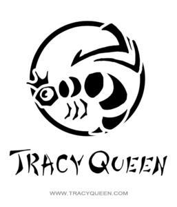 Tracy Queen: B&W - Logo
