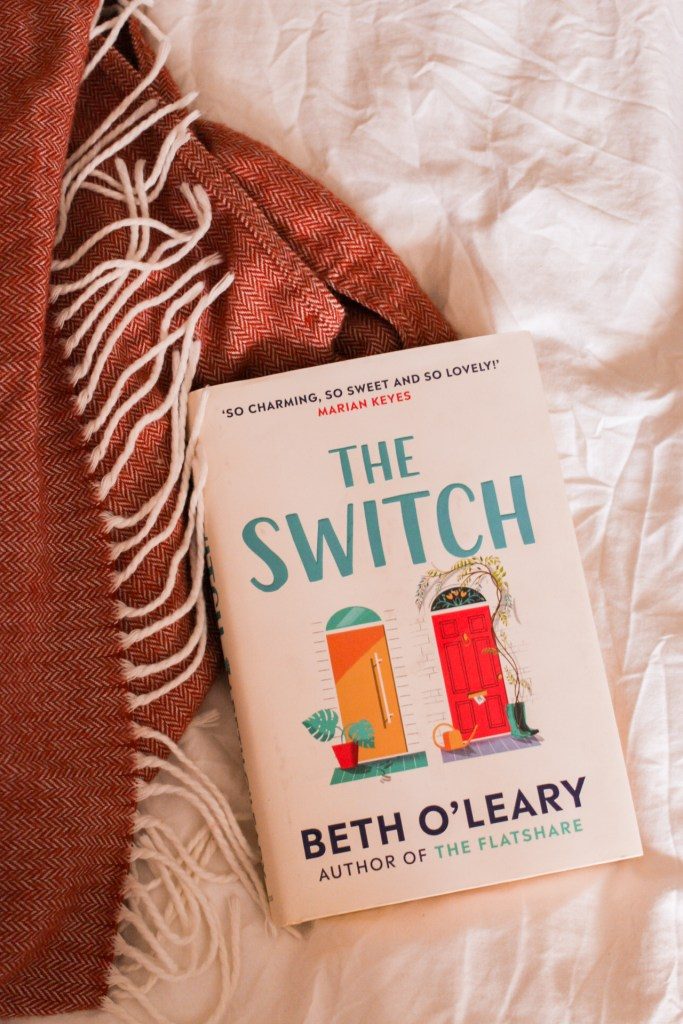 jaye rockett books read during lockdown book on bed the switch beth o'leary