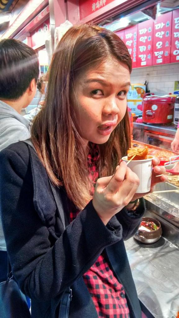 Street food happiness. Myeongdong.