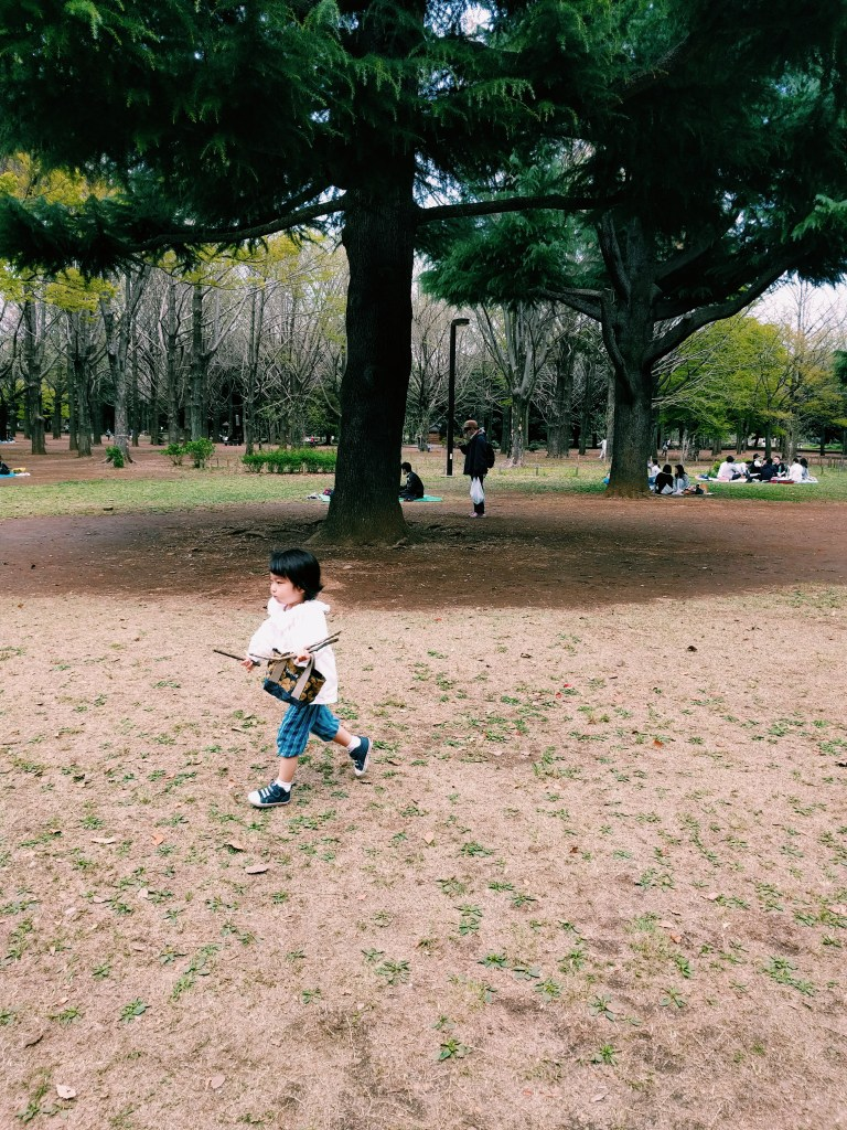 People watched. Baby of Japan. Yoyogi Park, Tokyo