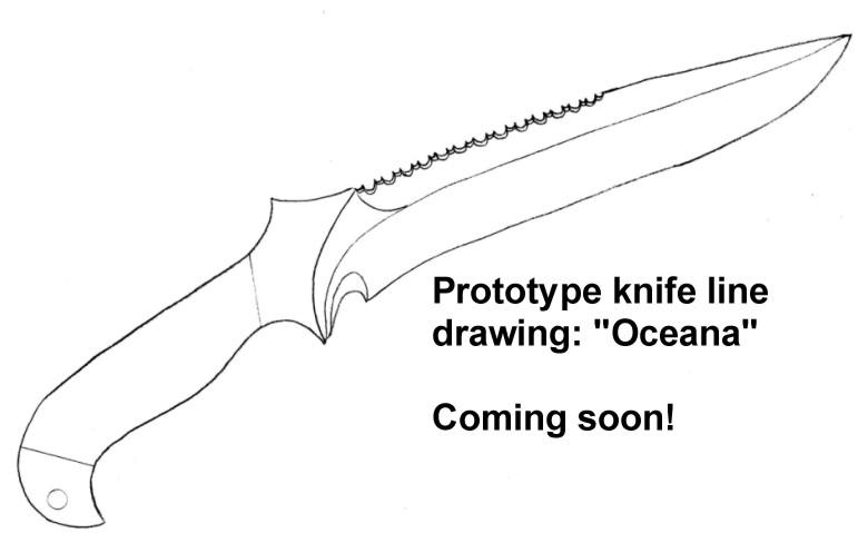 Custom Knife Patterns, Drawings, Layouts, Styles, Profiles