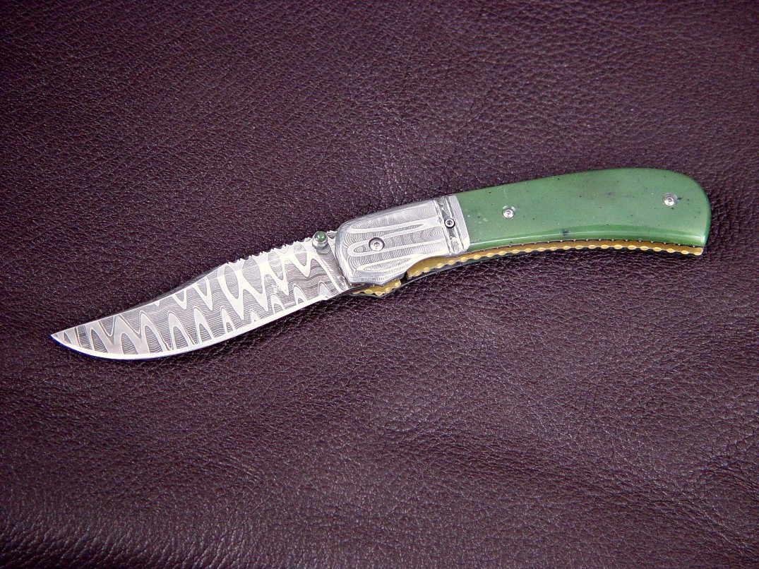 Gemini liner lock folding knife by Jay Fisher and Gerry