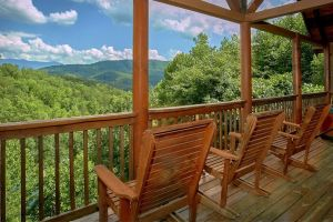 """""""A Mountain View Theater Lodge"""" is a 4 bedroom cabin with great mountain view and theater in Pigeon Forge"""