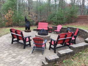 For The Good Times is a huge rental cabin in Pigeon Forge within Cedar Falls Resort. It is a luxury cabin featuring an amazing fire pit area, walk-in shower, huge loft game room, massive master bedroom, and the luxury amenities of Cedar Falls such as a community pool