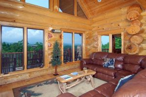 Great Smoky Lodge is a huge luxury cabin in Gatlinburg. It features massive logs, an amazing mountain view, huge kitchen, and a private secluded location near Gatlinburg