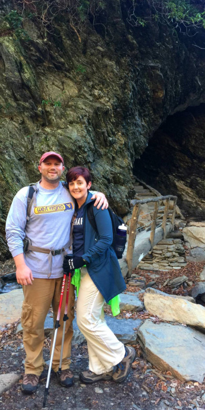 Jay Fradd, Gatlinburg Realtor, and Brooke Fradd on the Alum Cave Trail to Mt. LeConte