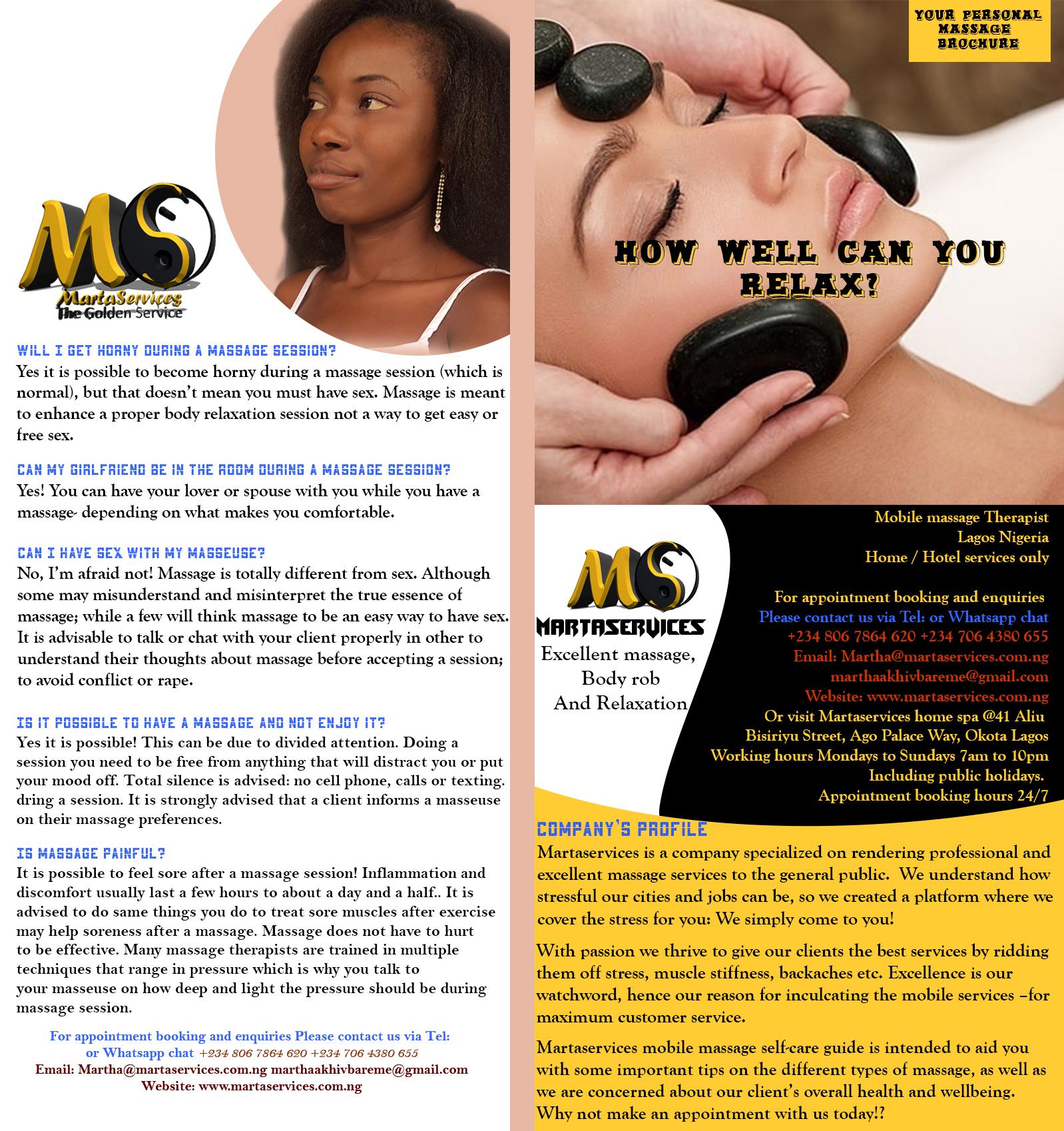 massage services in Lagos island