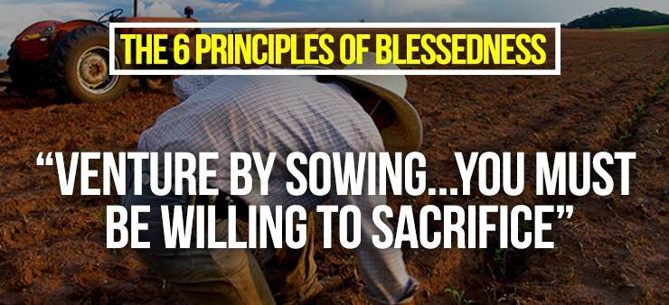 Venture by sowing You must be willing to Sacrifice by jay gregorio