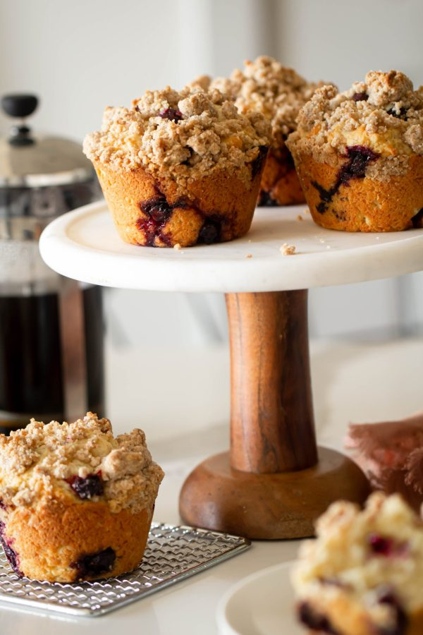 Jumbo Blueberry Streusel Muffins