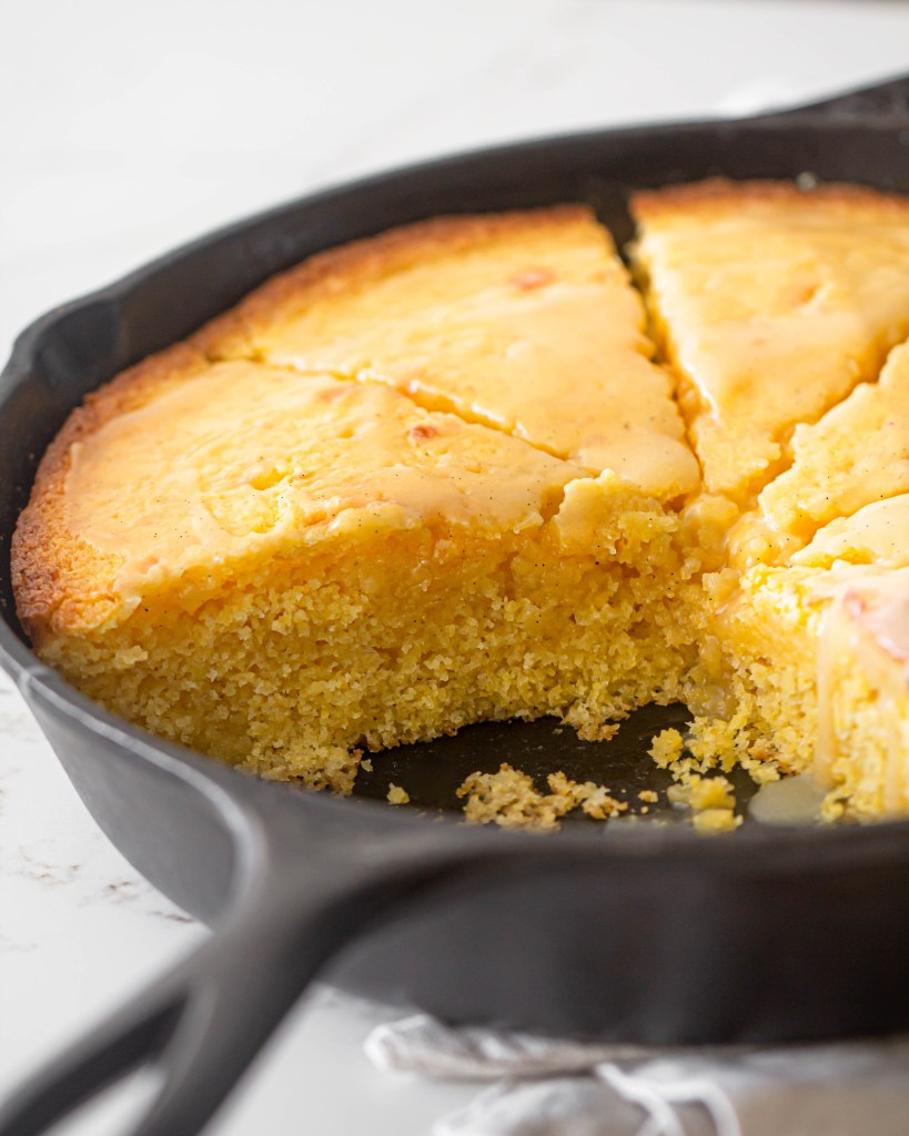 Cornbread with Vanilla Bean Honey Butter