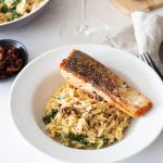 Creamy Parmesan Orzo and Salmon