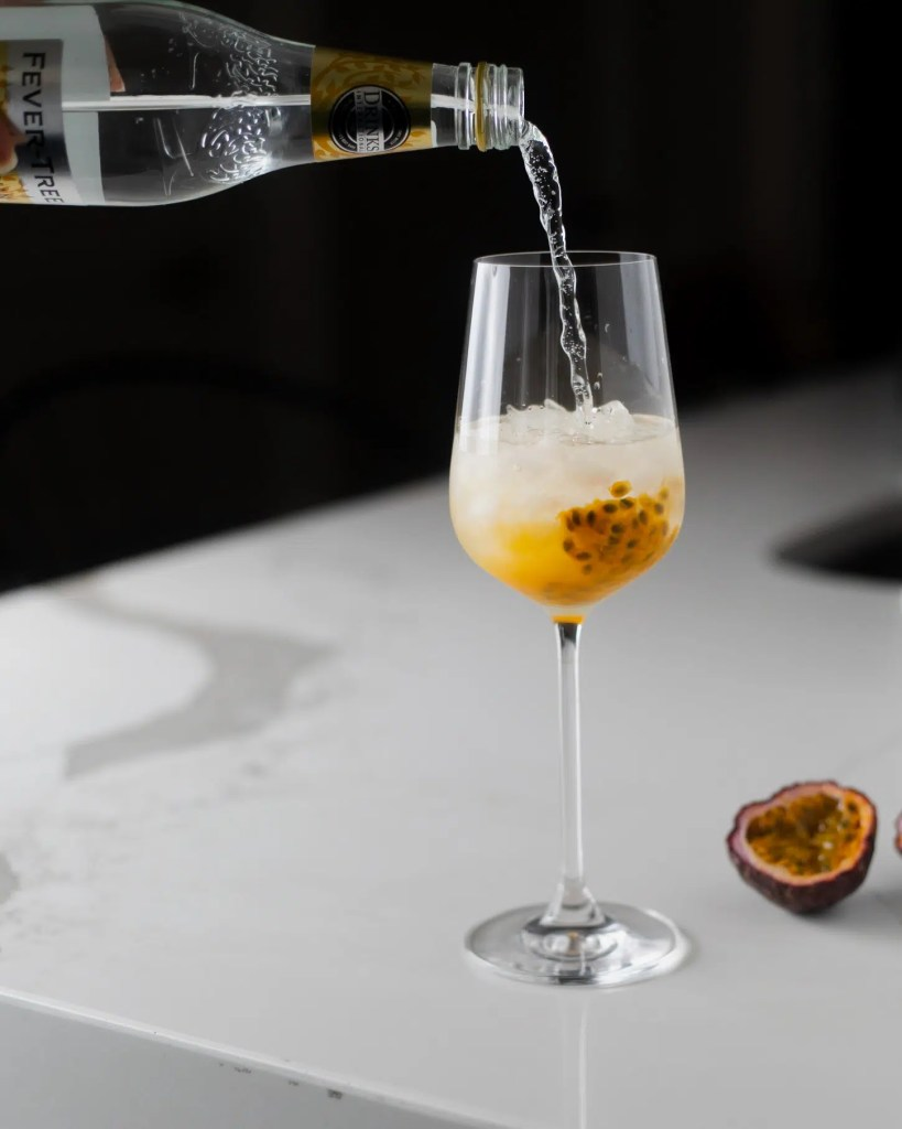 Passion Fruit Gin and Tonic
