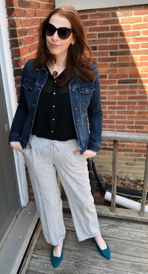 344ca4c512 I love a good denim jacket to just throw on over whatever I m wearing. I  prefer the darker wash