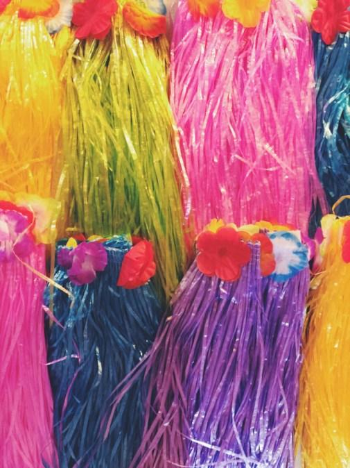 Moana birthday party hula skirts