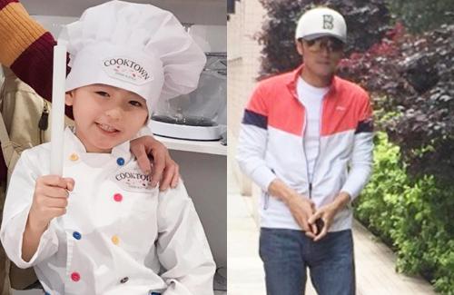 Nicholas Tse Cooks for Son Quintus' 7th Birthday