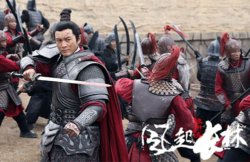 "Huang Xiaoming Helps Liu Haoran Carry ""Nirvana in Fire II"""