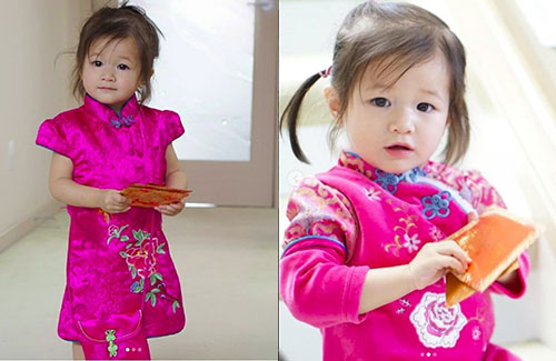 Linda Chung's Daughter Greets Everyone for CNY