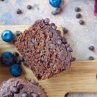 Paleo Chocolate Brownie Muffins