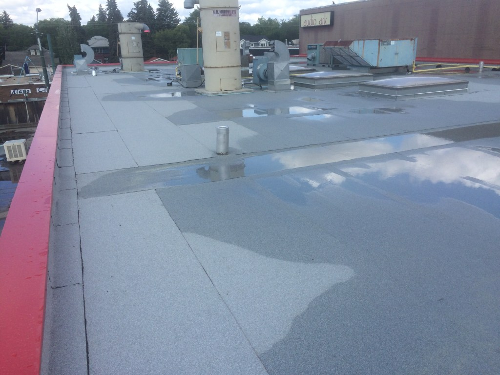 commercial flat roof system completed