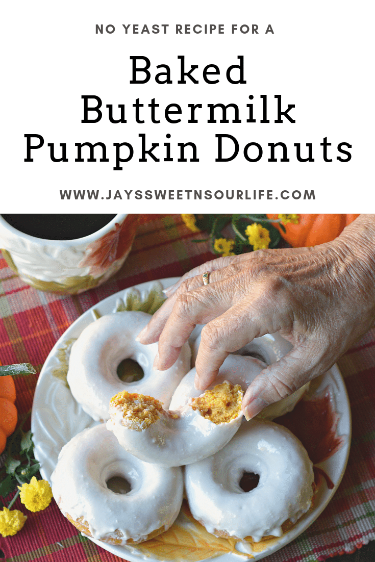 Baked Buttermilk Pumpkin Donuts. Calling all pumpkin lovers! Try my moist Baked Buttermilk Pumpkin Donut Recipe. Frosted with Cream cheese and baked to perfection. A No Yeast Recipe.