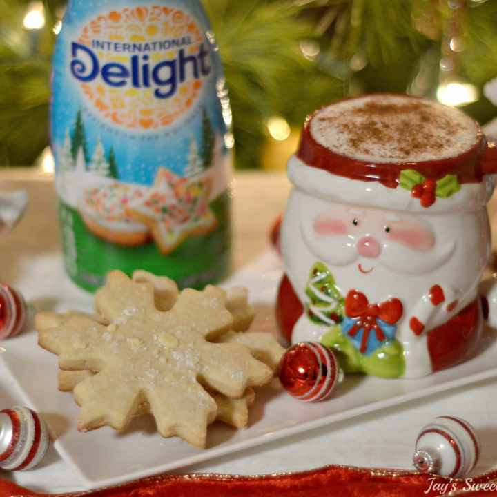 Santa Milk and Cookies Latte & Snowflake Cookie's