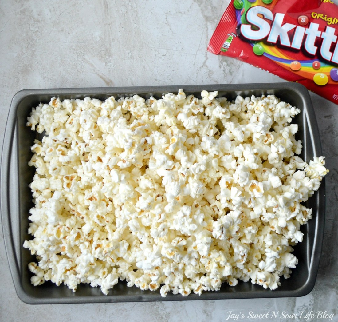 Game Day Skittles Inspired Snacks step 1. Game Day Skittles Inspired Snacks that all of your friends and family can enjoy! Recipes include skittles popcorn, football cupcakes and more!