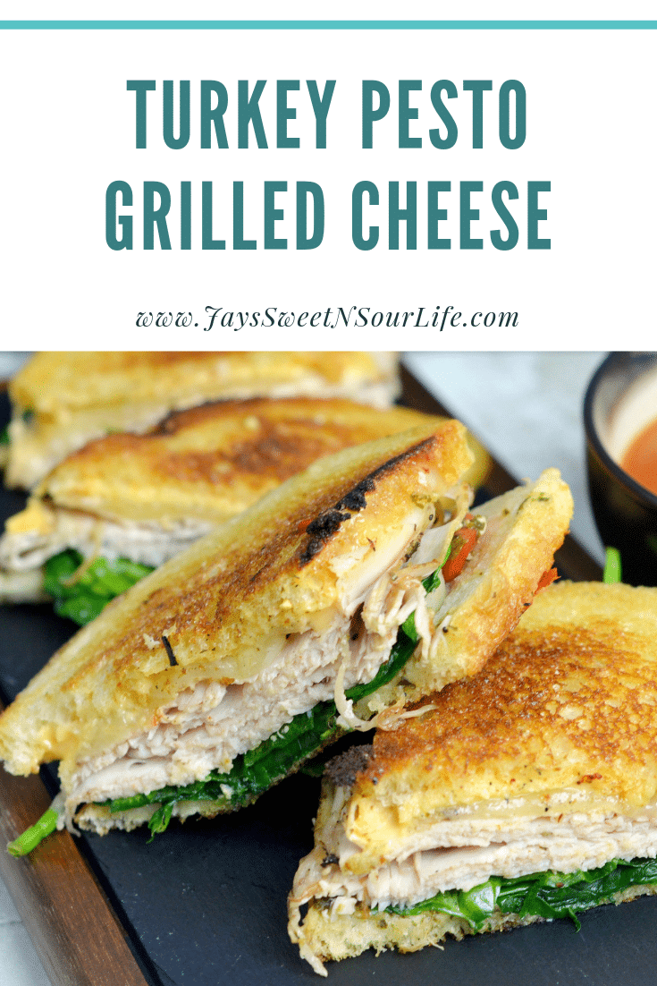 Turkey Pesto Grilled Cheese. If you are looking for that restaurant quality bistro sandwich, look no further. Bring the bistro home when you try my Turkey Pesto Grilled Cheese.